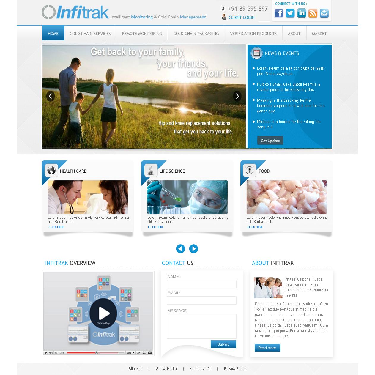 Infitrak   Website Writing & Design   MarketBurst